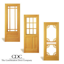 COMBINATION WOOD STORM AND SCREEN DOORS